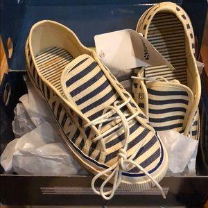 Superga x Scotch&soda striped navy sneakers
